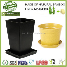 indoor home garden green customize bamboo fibre bio friendly plant holder, bamboo flower pot