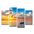 Seascape Canvas Prints Modern Home Wall Decor 4 Panel Nature Landscape Canvas Art Painting for Living Room