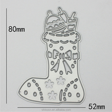 Wholesale 0.8mm christmas sock paper scrapbook die cut metal stencil from China supplier