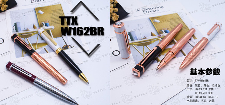 High Grade Wholesale Gorgeous metal pen with gold brass