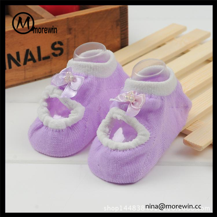 TOP quality !!! Morewin brand newborn baby anti-slip socks custom cute yoga ballet socks for kids