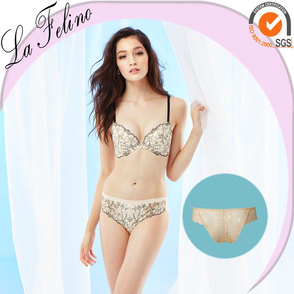 Breathable Lace Embroidered sexy mature underwear