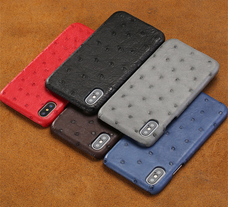 Custom-Made Premium Ostrich Leather Phone Case