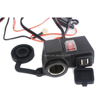 Motorcycle Waterproof Dual USB Power Port 5V 2.1A 1A