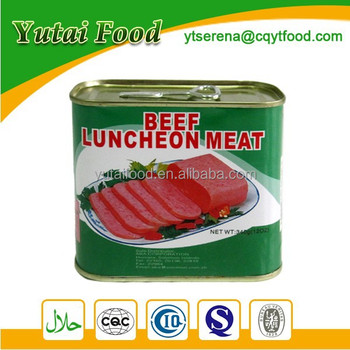 Beef Luncheon Meat Beef Meat in Can