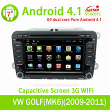 With Dual Core Cpu 1G RAM Capacitive Screen 3G internal Wifi for SEAT LEON Android 4.2.2 Car Radio with gps