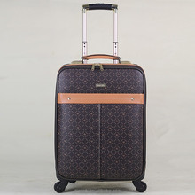 pvc / pu leather soft vintage carry on luggage