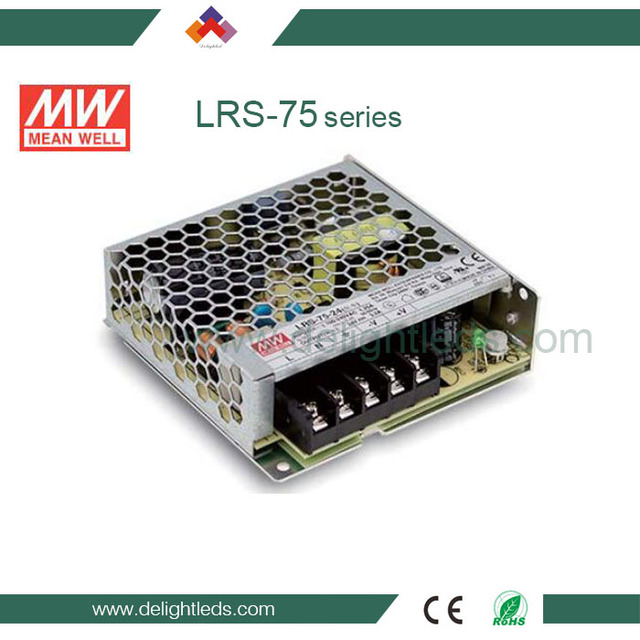75W single-output enclosed type power supply with 30mm of low profile design led power
