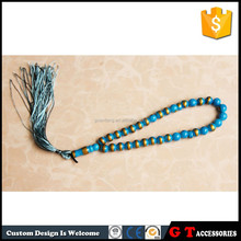 Black color buddhist prayer beads with round pendant