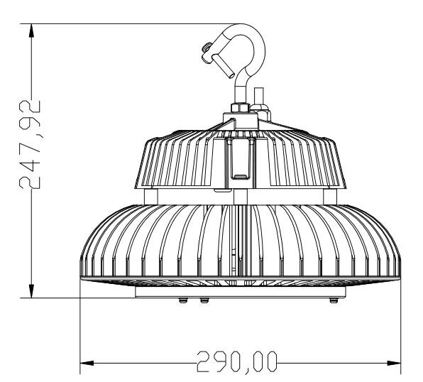 factory warehouse industrial 150w 100w 200w led high bay