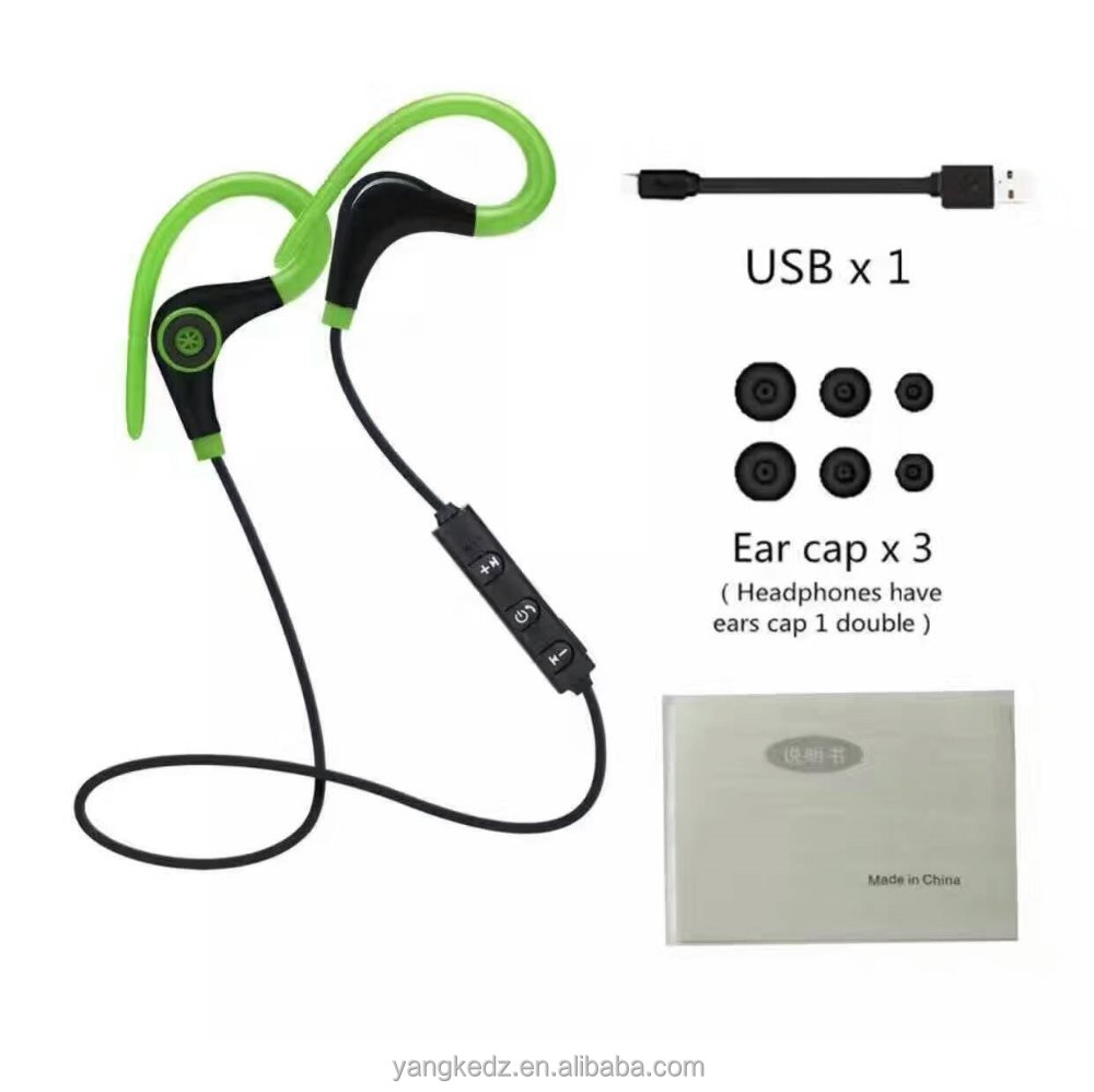 fashion ear hook stereo Bluetooth headset, Bluetooth earphone for sport