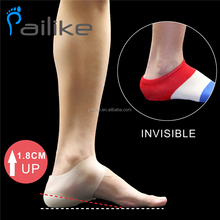 Gel Heel Lift Invisible Shoes Height Increase insoles Heighten sleeve Plantar Fasciitis Elastic sock Unisex