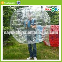 outdoor giant inflatable body adult bouncy bumper ball for sale