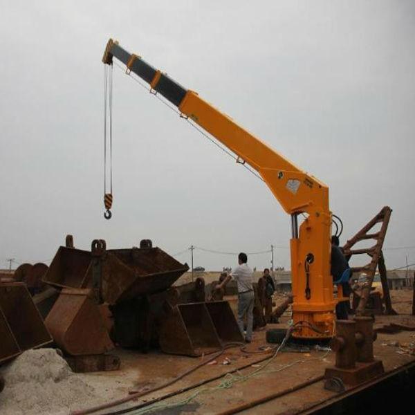 Telescopic Deck Cranes : Pedestal marine fixed boom deck crane buy