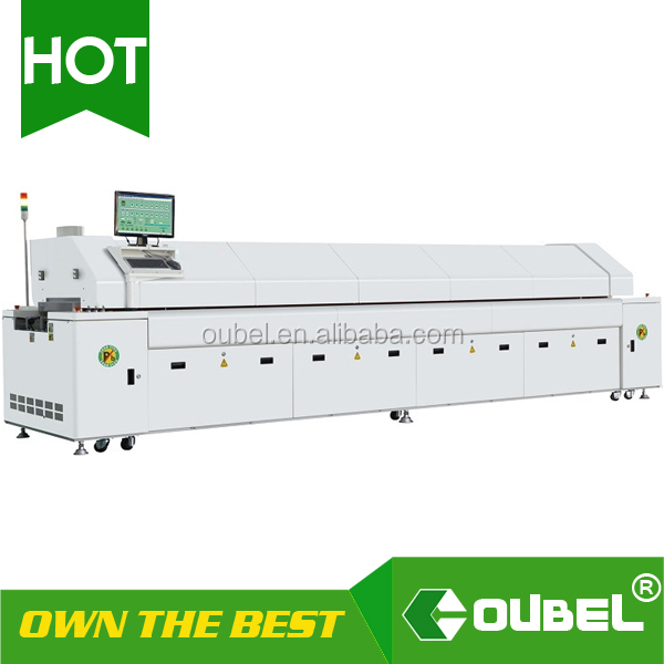 obsmt reflow oven,6,8,10,12hot air reflow oven,SMT reflow,smd led soldering machine