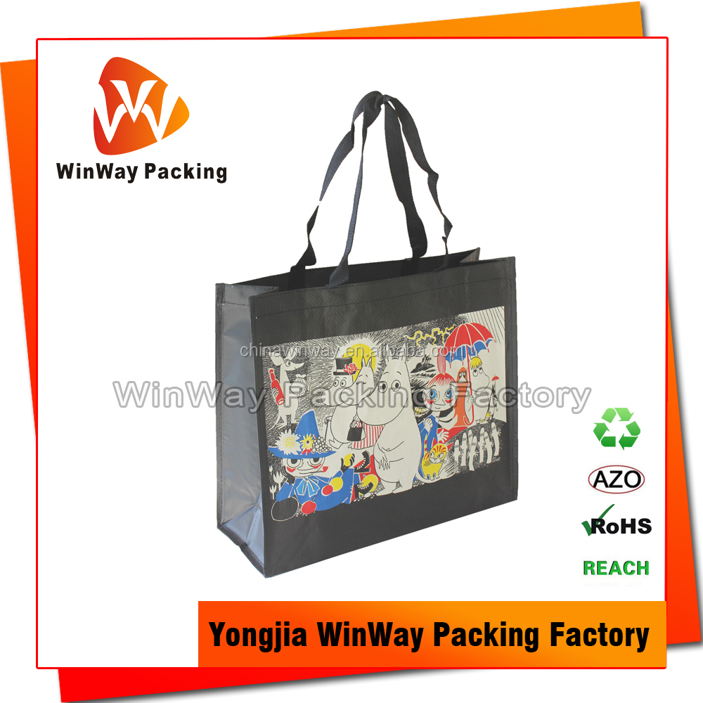 Cheap Price Full Color Printing PP Woven Shopping Tote Bag