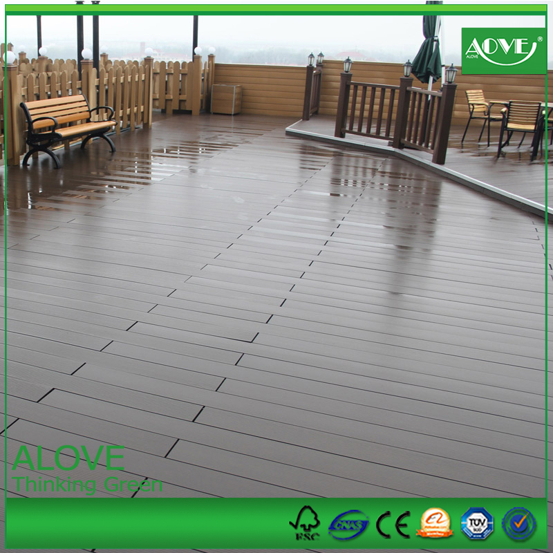 Factory of wpc /pvc interior/exterior DIY floor tiles and decking floor /sawing /painting