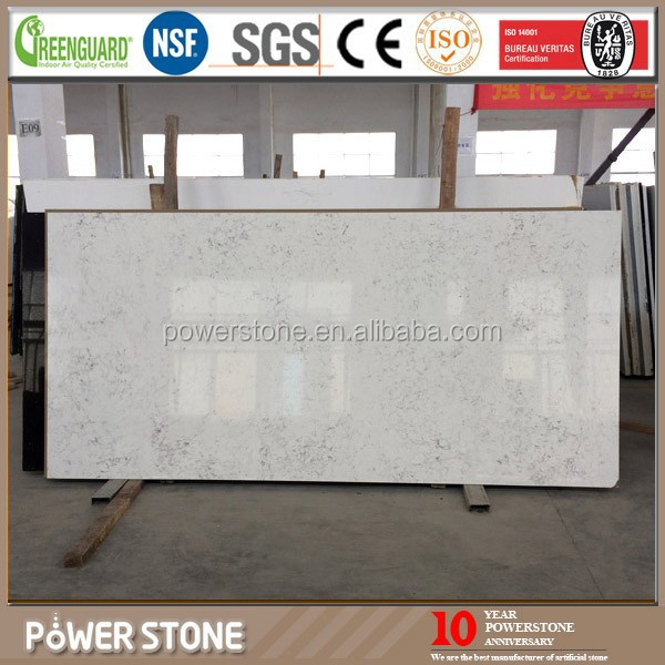 New Color Cararra White Quartz Shower Stone Wall Panel Competitive Price