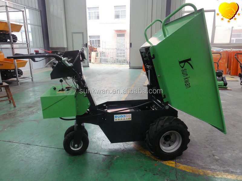 Green 500kgs Mini electrical dumper