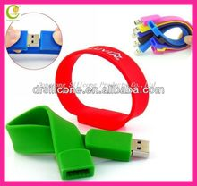 Custom silicone charm bracelet usb flash drive