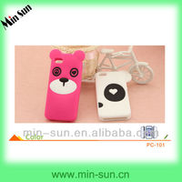 Fashion silicone phone case with custom logo for iphone 5