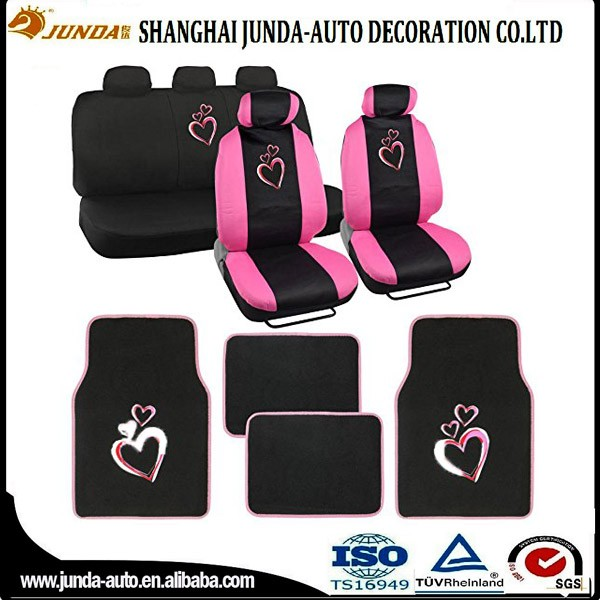 Best selling automotive novelty car seat covers,pink car seat covers