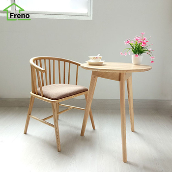 FN-5499 hot sale armrest solid wooden dining chairs