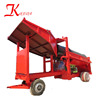Industry Mobile Type Gravel and Sand Gold Screening Sluice Alluvial Trommel Screen Sifter For Sale