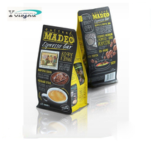 free sample top food grade coffee tea black paper packing bag with seal zip