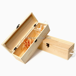 Customized Shape embossed wine packaging wooden box wholesale
