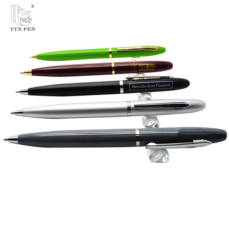 Custom Logo Promotional Gifts Modern Sliver Ball Point Pen