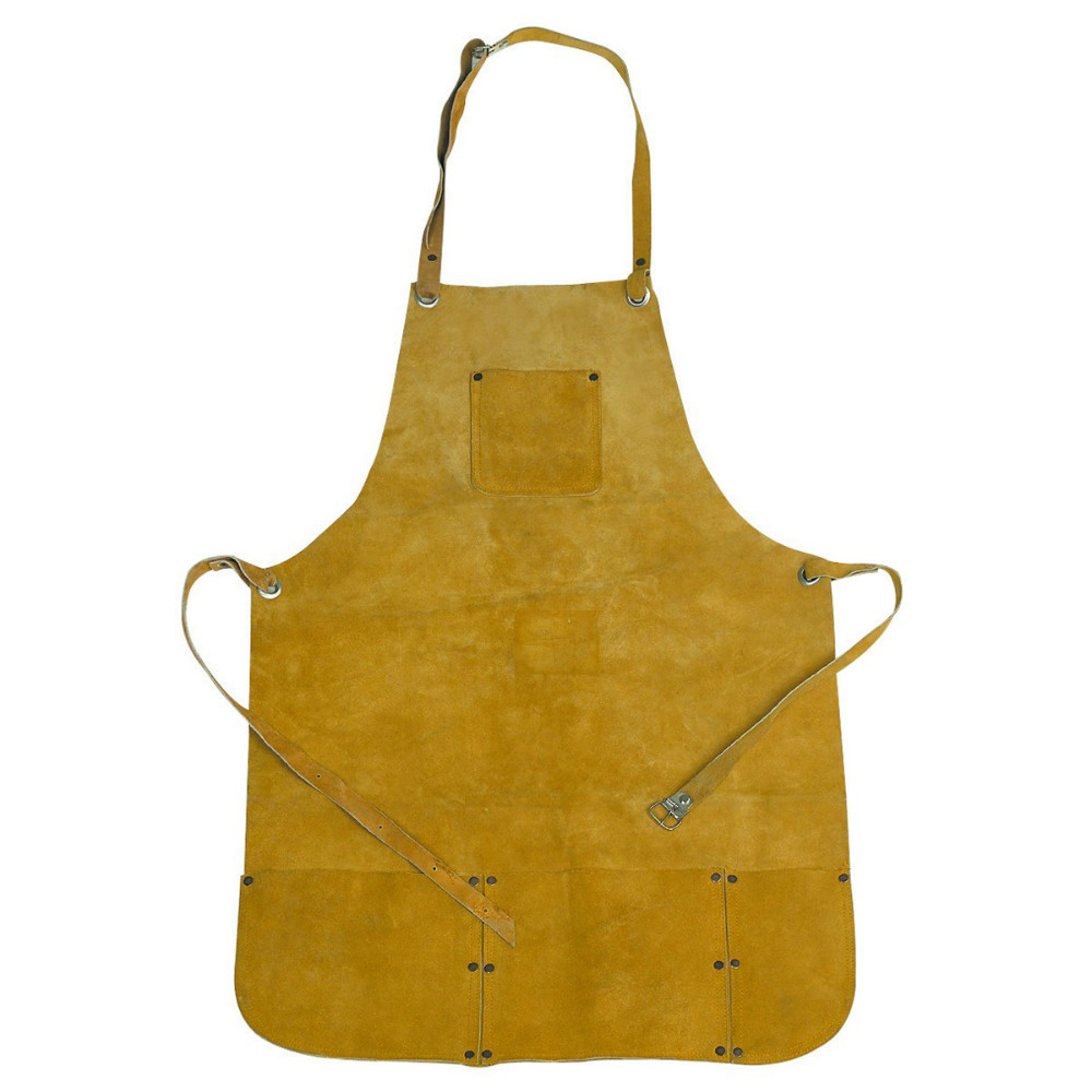 Real leather welding apron