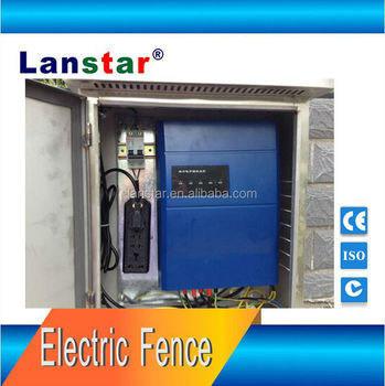 Electric fence horses used security alarm system