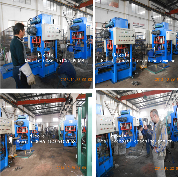 KB125 automatic concrete roof floor tile making machine price