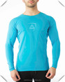 Blue 94% Cotton 6% Elastane Mens Performance T Shirt Raglan Long Sleeve T Shirt Slim Fit Sports Tee Wholesale