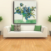 Restaurant decorative wood frame flowers and vase art oil painting on canvas