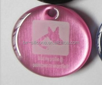 qr pet tag with cover laser id pet tag custom logo
