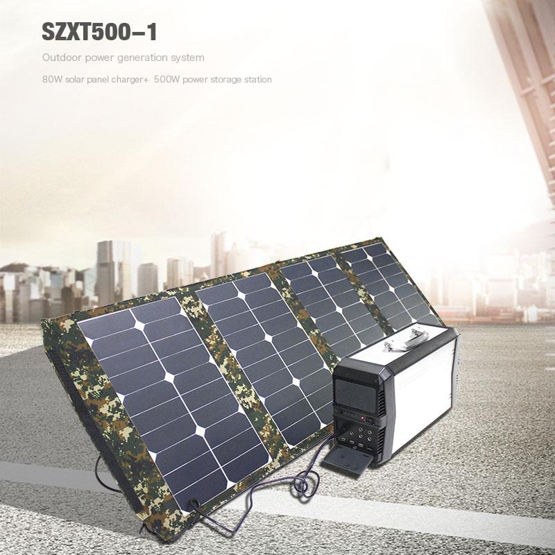 500W Electric Generator solar power station output AC 220v household energy supplier