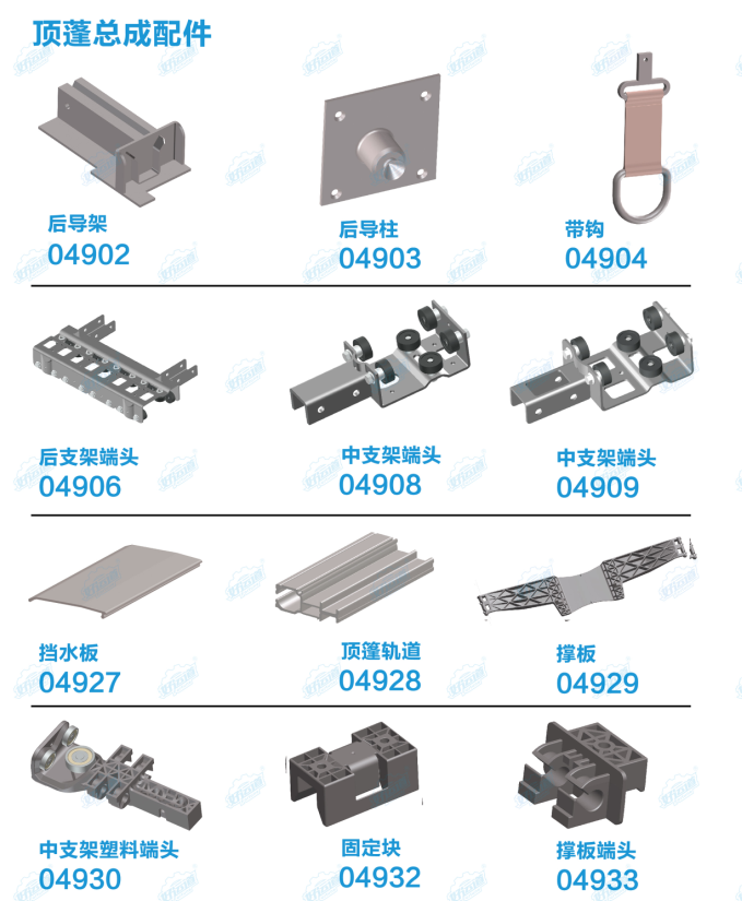 parts of Soft truck curtain side parts