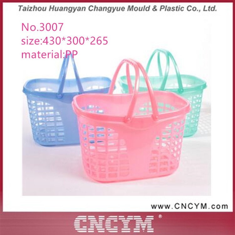 Hot sale Top quality plastic shopping basket with handle