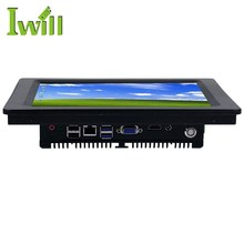 Fanless 10.4 inch touch screen desktop computer all in one industrial panel pc