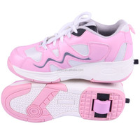 2015 New Pink 1 Wheel Roller Shoes