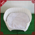 Fashion woven white rattan pet product cat play bed dog sofa furniture
