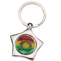 Wholesale Zinc Alloy Jamaica Star Shaped Keychain No Problem Double Sided Spinning Keyring