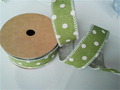 Wholesale Personalized Cotton Linen Dots Ribbon for Decoration