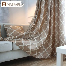 NAPEARL ready made jacquard design lounge living room curtains and drapes