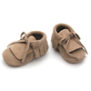 Wholesale baby leather baby moccasin shoes
