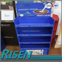 Corrugated plastic display stand high quality chocolate display stand