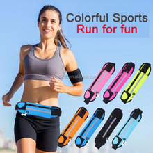 Wholesale large capacity running sports waist bags for mobile phone etc