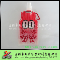 T-Shirt foldable/folding Plastic Soft Water Bottles/spout pouch for water